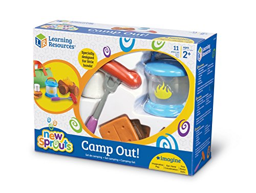Learning Resources New Sprouts Camp Out!, Camping and Campfire Toy, 11 Pieces, Ages 2+