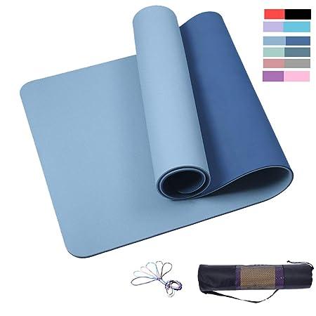 QULONG Colchoneta De Yoga para Ejercicios, Material 100% TPE ...