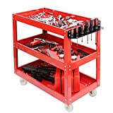 MultiWare Tool Cart 3 Tier Shelf Heavy Duty Garage Workshop DIY Tool Storage Wheel Cart Trolley