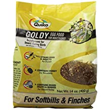 Quiko Goldy Egg Food Supplement for Insect Eating Birds-Softbills and Finches, 14-Ounce Pouch