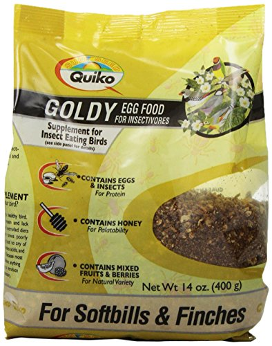 Quiko Goldy Egg Food Supplement for Insect Eating Birds – Softbills & Finches, 14 Ounce Pouch