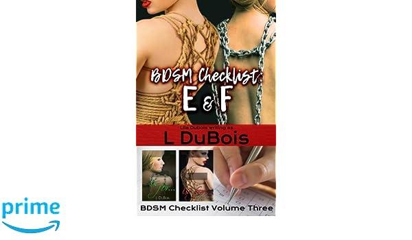 Online bdsm checklist