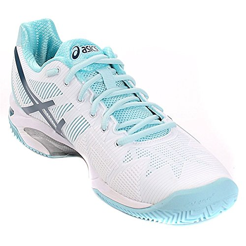Asics Gel Solution Speed 3 Clay Donna - White/Blue Steel/Crystel Blue
