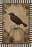 Toland Home Garden Pumpkin Crow Garden Flag 119640
