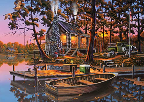 Buffalo Games - Americana Collection - Eugene's Hunting & Fishing - 500 Piece Jigsaw Puzzle