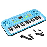 M SANMERSEN Piano Keyboard for Kids, 37 Keys Multifunction Led Screen Portable Piano Electronic...
