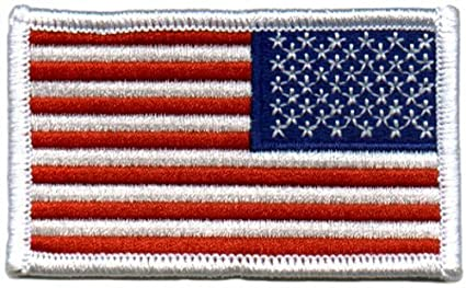 Amazon.com  American US Flag REVERSED Patch White Border  Misc.  by ... 86d8e92ce31