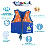 SwimSchool New & Improved Swim Trainer Vest, Flex-Form, Adjustable Safety Strap, Easy on and Off, Medium/Large, Up to 50...