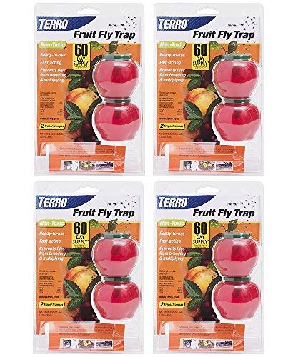 TERRO Fruit Rvpzu Fly Trap, 2 Count (4 Pack)