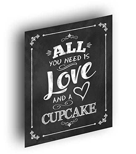 Chalkboard Wedding Print Cupcake Rustic product image