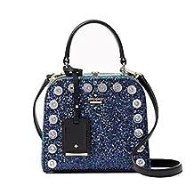 Kate Spade Violina Skyline Way Crossbody Glitter Handbag Blue