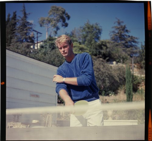 Troy Donahue Table Tennis Portrait Rare Vintage 2 1/4 Inch Transparency Slide ()