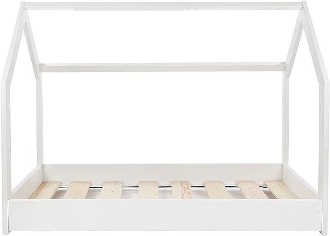 Colore: Bianco Velinda Letto /& casa in Legno Stile scandinavo Nordico Bambino cameretta 190x90cm