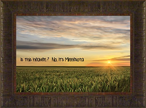 Minnesota Heaven By Todd Thunstedt 17.5x23.5 Morning Farm All Farming John Deere IH Farmall Allis Ford Combine Pig Sheep Lamb Holstein Dairy Hereford Beef Angus New Bible Verse Quote Saying Jesus Testament Old New Framed Art Print Wall Décor Picture