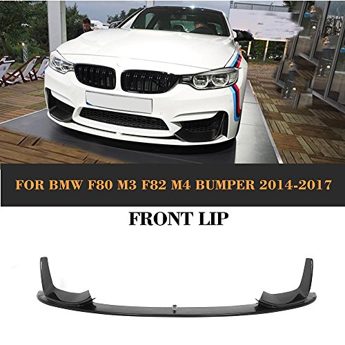 MCARCAR KIT For BMW F82 M4 F80 M3 2014-2017 Car Tuing Front Bumper Chin Spoiler (Half carbon front lip)
