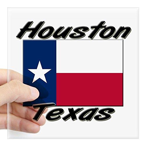 (CafePress Ilovecities_Texas_3-263-Houston Square Bumper Sticker Car Decal, 3