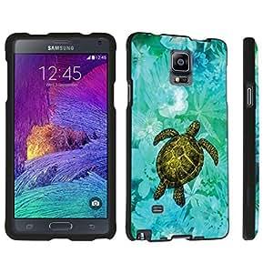 DuroCase ? Samsung Galaxy Note 4 Hard Case Black - (Sea Turtle Floral)