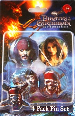 [Disney's Pirates of the Caribbean Pirate Button Set (4 Pack)] (Pirate Clothing And Accessories)