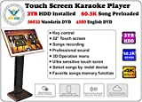 Touch Screen All-In-One Karaoke Player Free Cloud download 3000G HDD 60,535 K Songs Mandarin+ English Select Songs Both Via Touch Screen And Mobile Device