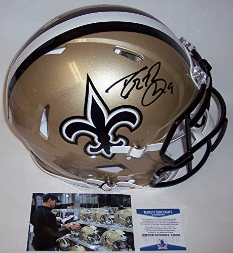Drew Brees Autographed Hand Signed Riddell New