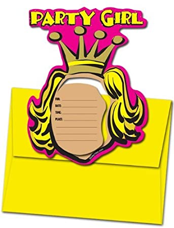 amazon com 8 magnetic invitations party girl magnet frames and