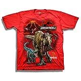 Jurassic World Boys' Big 2 T-Rex & Raptor Short