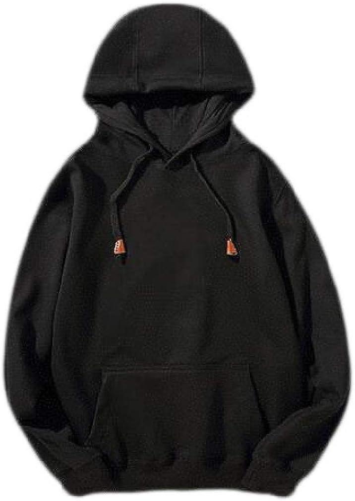 Smallwin Mens Pullover Hoodie Fall//Winter Long Sleeve Pocket Sweatshirts