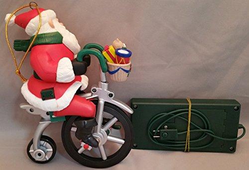 Avon Cycling Santa Musical Ornament