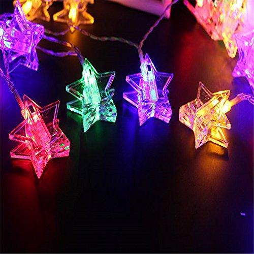 Photo Clips String Lights,Star Shaped Clip Battery String Light,20 LED