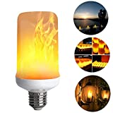 led flame bulbs Super Flame Light Burning Effect Decorative Fire Flickering Simulation Vintage Atmosphere Decorative Lamps Simulated Antique Lantern Christmas decorations E26- Standard Base -1 pack