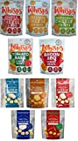 Whisps 5 Flavors & Moon Cheese 5 Flavors; Low Carb, Gluten Free, Keto and Paleo Friendly; 100% All Natural Cheese (10 Pack Assortment Bundle)