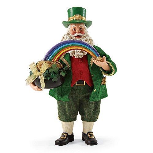 "Department 56 Possible Dreams Santa Claus ""Leprechaun Loot"" Clothtique Christmas Figurine (Dreams Possible 56 Santa)"