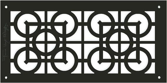x 14 in Architectural Grille FLWLuxferLatticeMajor0061406AB 6 in Aluminum Antique Bronze Frank Lloyd Wright Collection Luxfer Lattice Major Grille