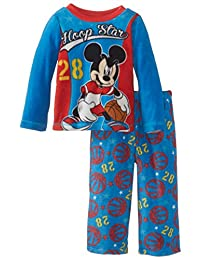Disney Mickey Mouse Little Boys' Toddler Cozy Fleece Pajama Set