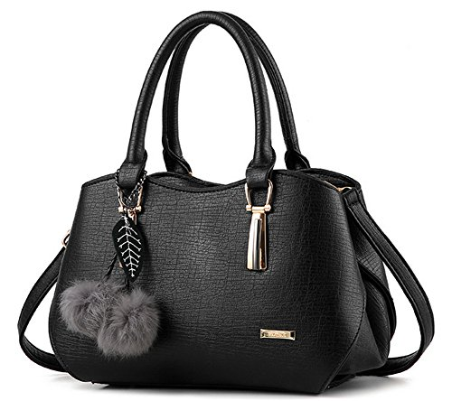 Bolsos de señora Xinmaoyuan Señoras Bolso Messenger Bag Bolso Bolsa Locomotora Pu Negro