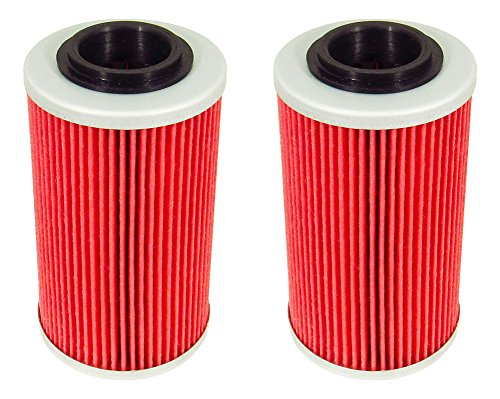 (Outlaw Racing ORF564 Performance Oil Filter- Set of 2 APRILIA RSV 1000 R BUELL 1125R CAN-AM SPYDER GS (SE5) Street Motorcycles Replaces KN564)