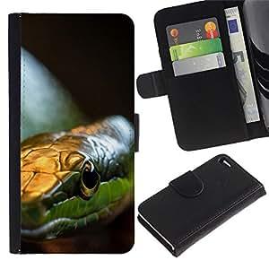 Stuss Case / Funda Carcasa PU de Cuero - Serpiente Verde - Apple Iphone 4 / 4S