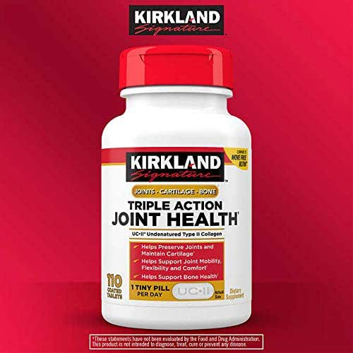 Kirkland Signature Expect More Triple Action Joint Health, 110 Coated Tablets
