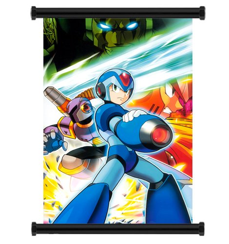 Mega Man X Anime Game Fabric Wall