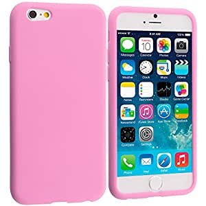 Accessory Planet(TM) Light Pink Silicone Soft Gel Rubber Skin Case Cover Accessory for Apple iPhone 6 (4.7)