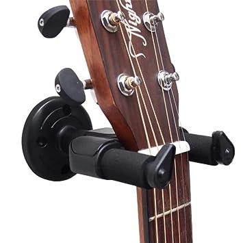 Soporte de guitarra para guitarra acústica y eléctrica, soporte de pared para guitarra giratorio con
