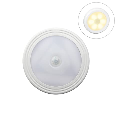 ledmomo luz de detector de movimiento, luz de noche con pilas de LED, lámpara