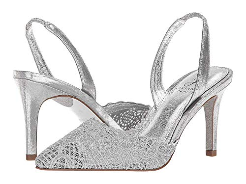 Adrianna Papell Women's Hallie Silver 10 W US