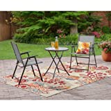 Mainstays Pleasant Grove 3-Piece Folding Bistro Set, Gray