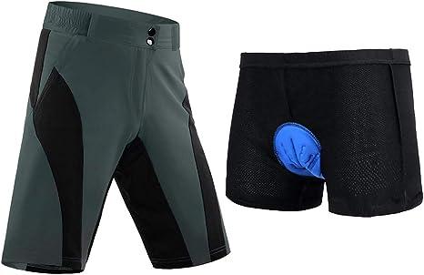 SM SunniMix Confort Ciclismo Pantalones Cortos Acolchados ...