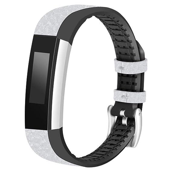 Bestow Fitbit Alta Fitbit Alta Reloj de Pulsera TPU Correa de Cuero de reemplazo Pulsera Electr