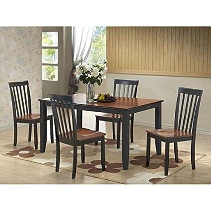Amazon.com - Boraam 21034 Bloomington 5-Piece Dining Room Set, Black ...