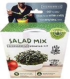 Mini Microgreens Growing Kit - Salad Mix - Grow Your Own Organic Gourmet Micro Greens Indoors: Salad, Sandwich & Garnish - Easy & Fun - Great Gift or Stocking Stuffer (Salad Mix)