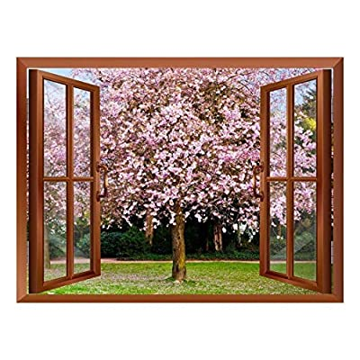 Sakura Flowers Blooming Removable Wall Sticker Wall Mural...