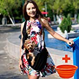 PYXAGE Dog Carriers for Small Dogs - Adjustable Pets Cat Carrier for Up to 12 lb. Purse/Pouch for Puppy Travel, Baby Pet Sling, Portable Front Pack Carrying Bag with Pocket for Treats, Black